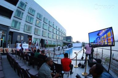pool party at-Radisson Blu hotel, Lagos