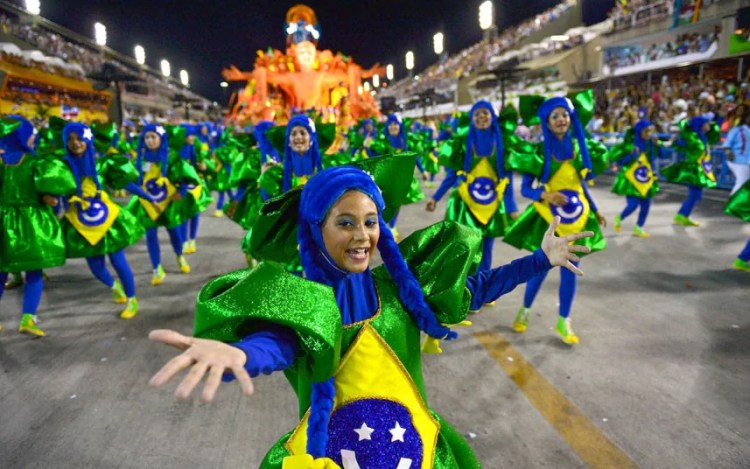 Rio carnival display
