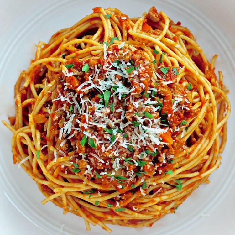 Spaghetti Bolognese meal