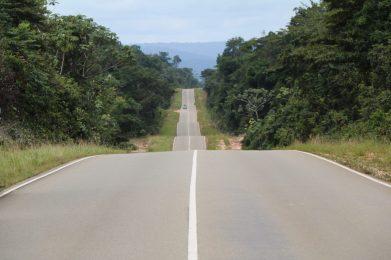 Foto 4] Surinaamse 'highway' door het binnenland