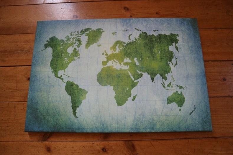 wereldkaart in huis