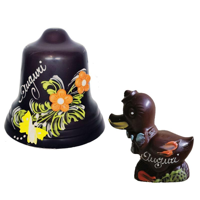 Campana di cioccolato più Papera