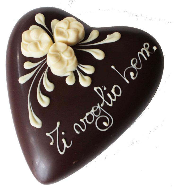 Cuore di cioccolato Fondente