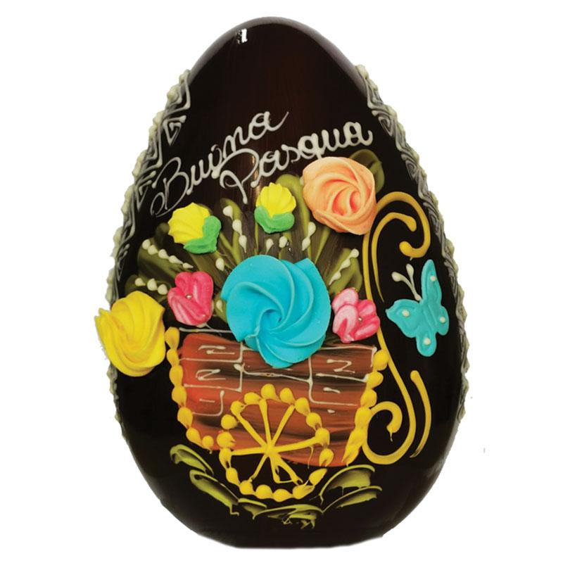 Uovo 500 decorato a mano