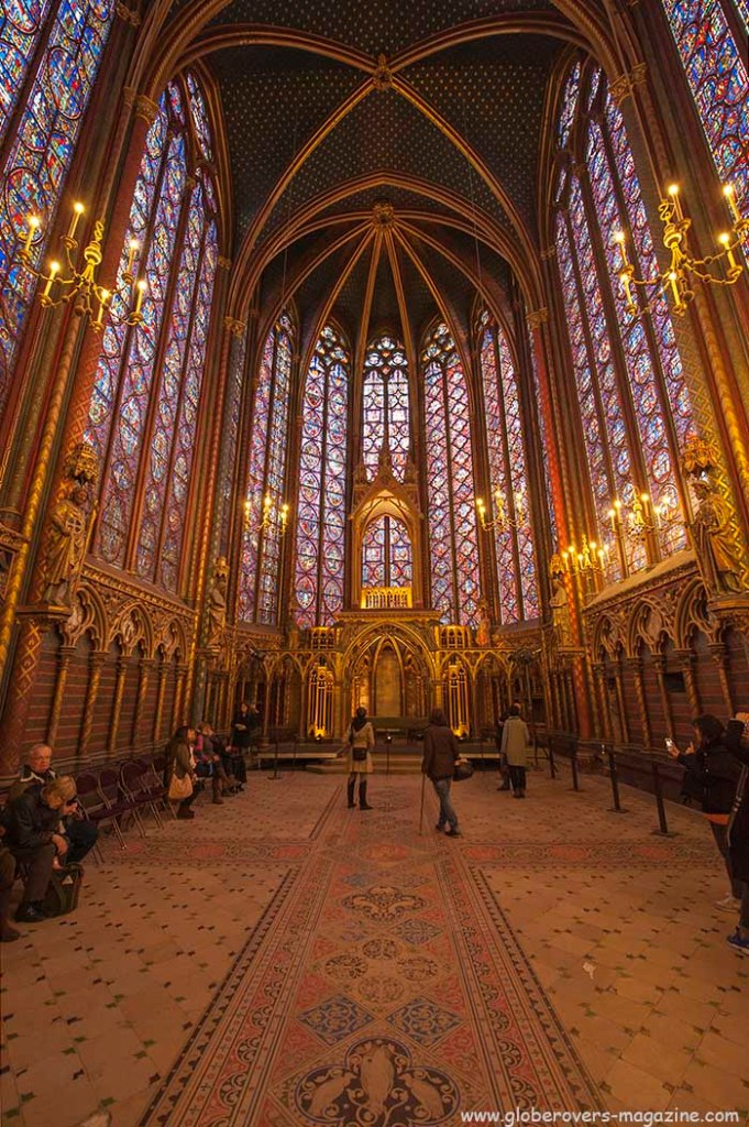 Sainte Chapelle on Île de la Cité, Paris, FRANCE