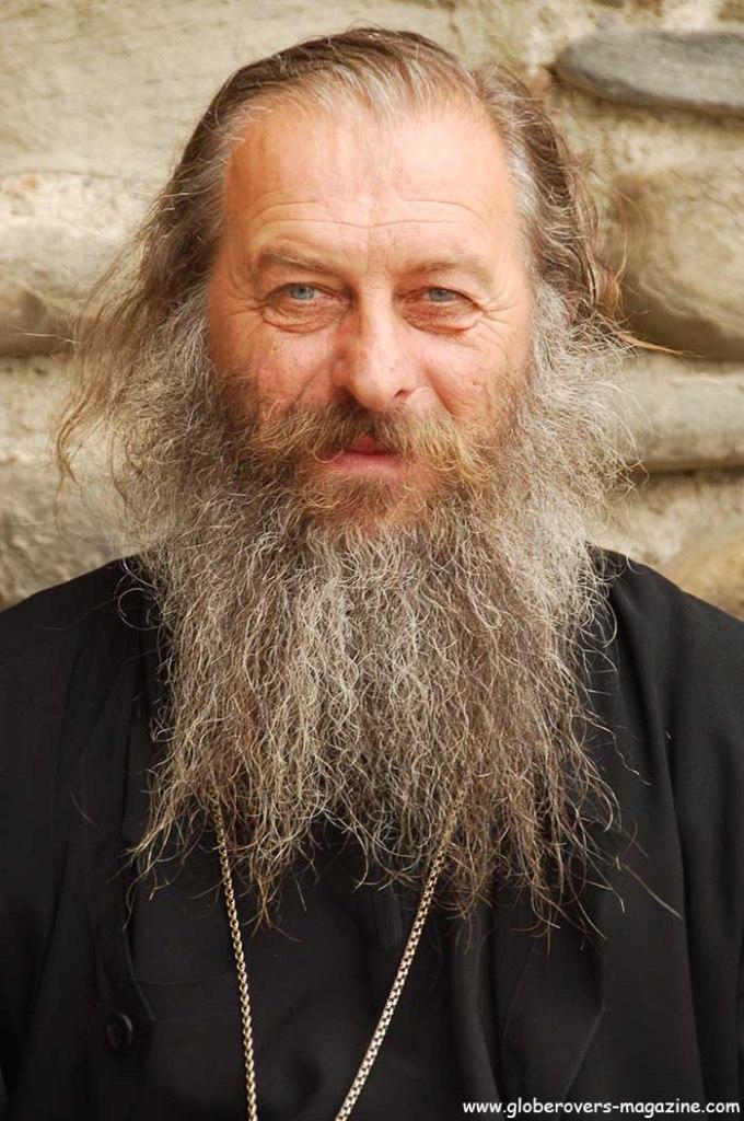Portraits - Monk, Sveti-Tskhoveli Cathedral, Mtskheta, Georgia