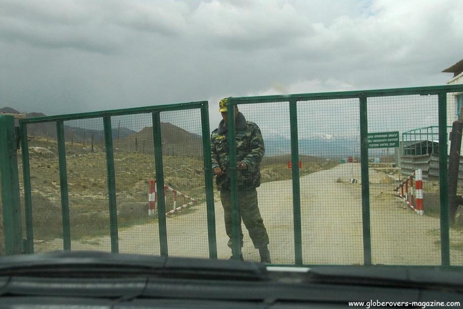 Kyrgyzstan immigration at Torugart Pass, Kyrgyzstan