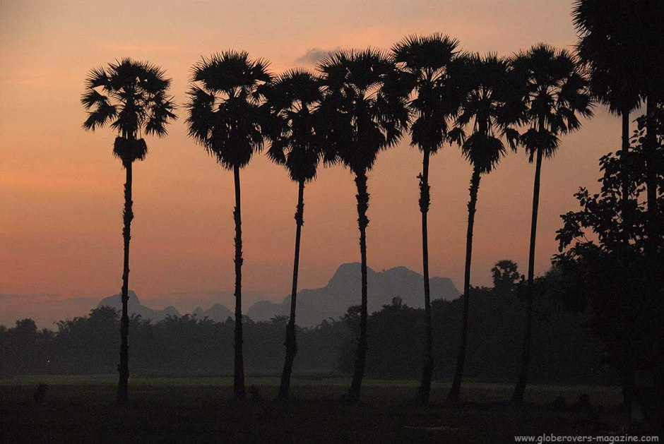 Sunrise around Lat-ka-Na village, outside Hpa-An, Myanmar