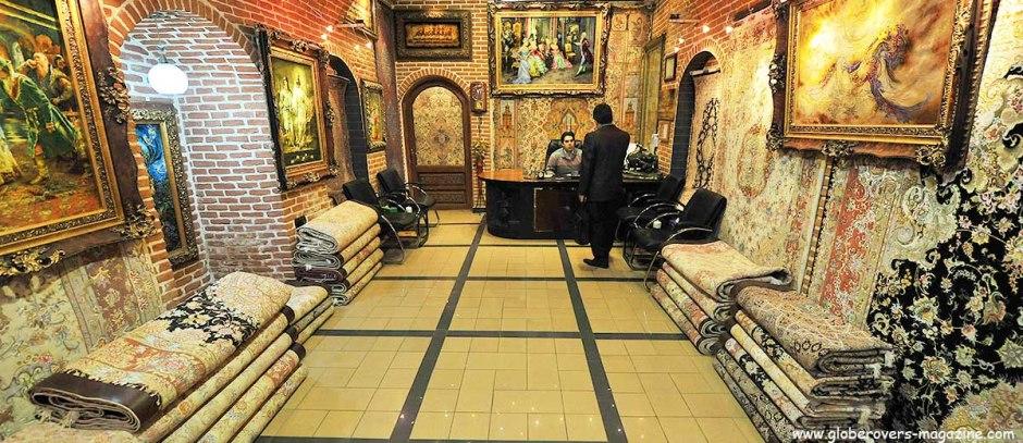 Carpet shop at thebazaar, Tabriz, Iran