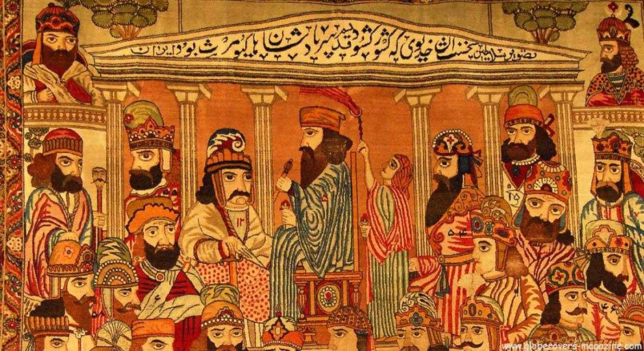 A very valuable carpet at the Carpet Museum, Tehran, Iran