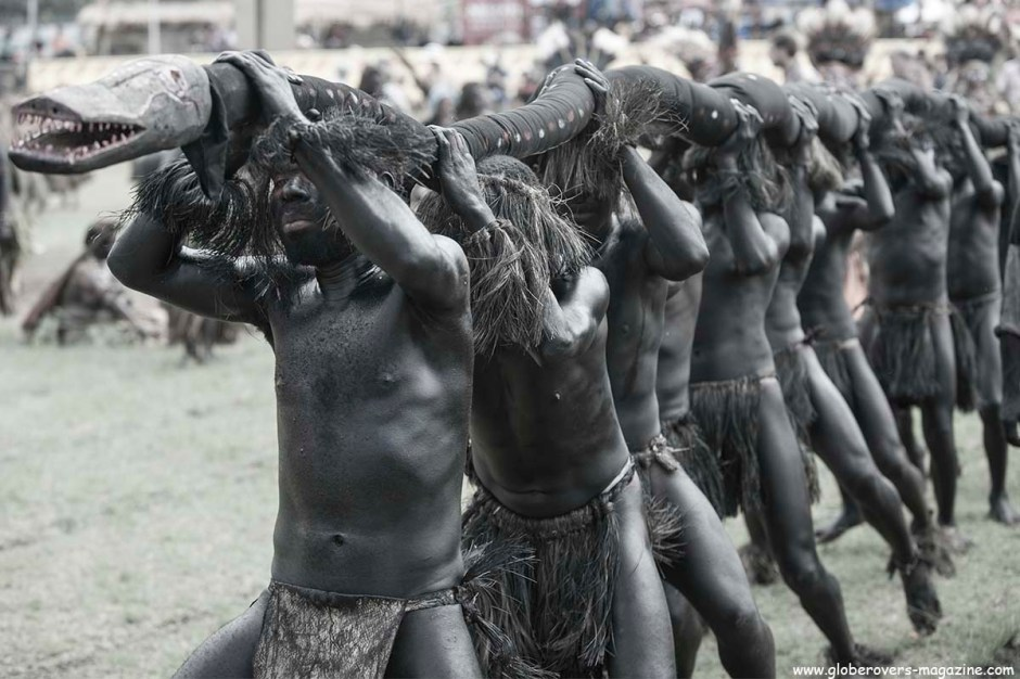 Wild Snake Singsing Group, 2014 Goroka Festival. Papua New Guinea