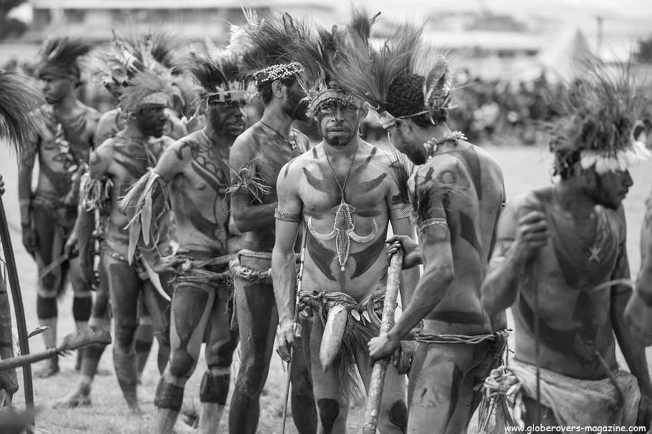 Sandaun Warriors Singsing Group, 2014 Goroka Festival. Papua New Guinea PNG