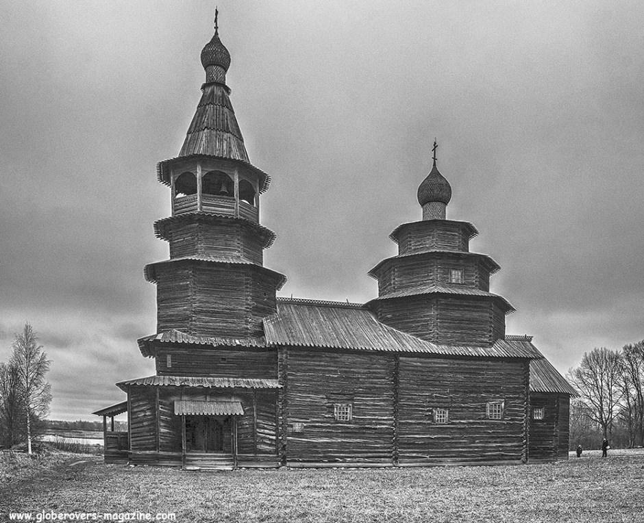 Vitoslavitsy Museum of Folk Wooden Architecture outside Veliky Novgorod, Russia