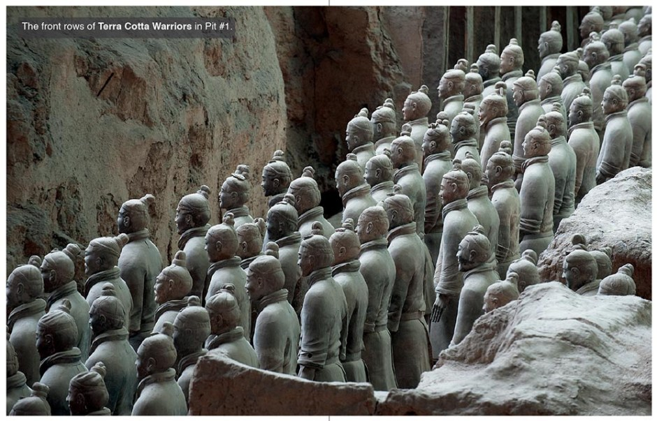 Terracotta Warriors near X'ian in China's Shaanxi province.