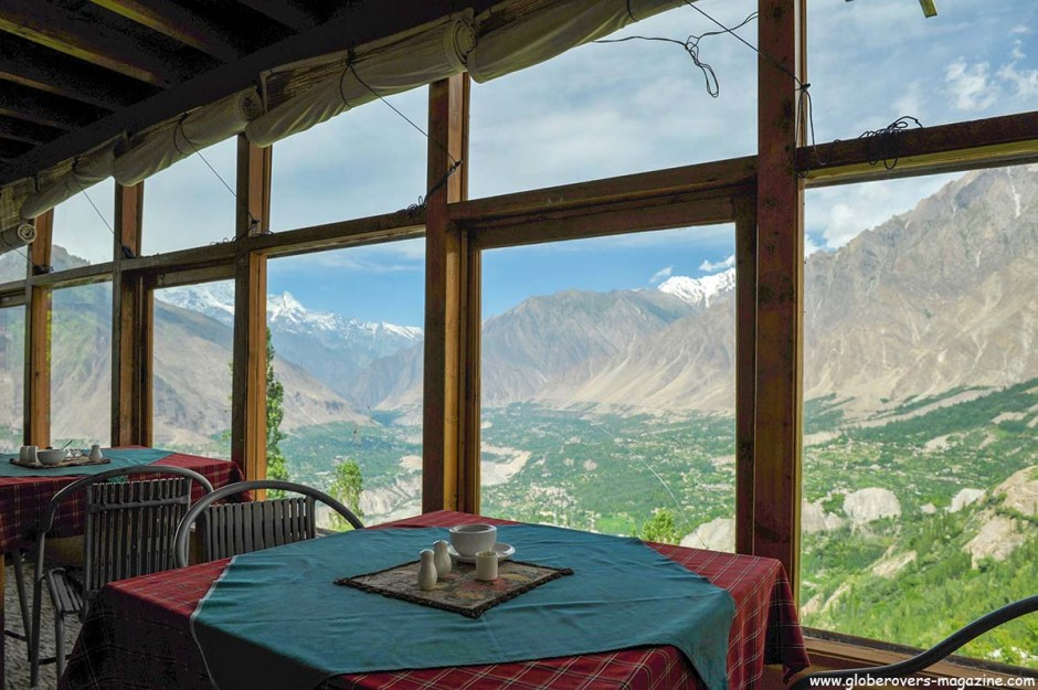 "Views Karimabad from ""Eagle's Nest Hotel"" in Duker Village, Lower Hunza Valley, PAKISTAN"