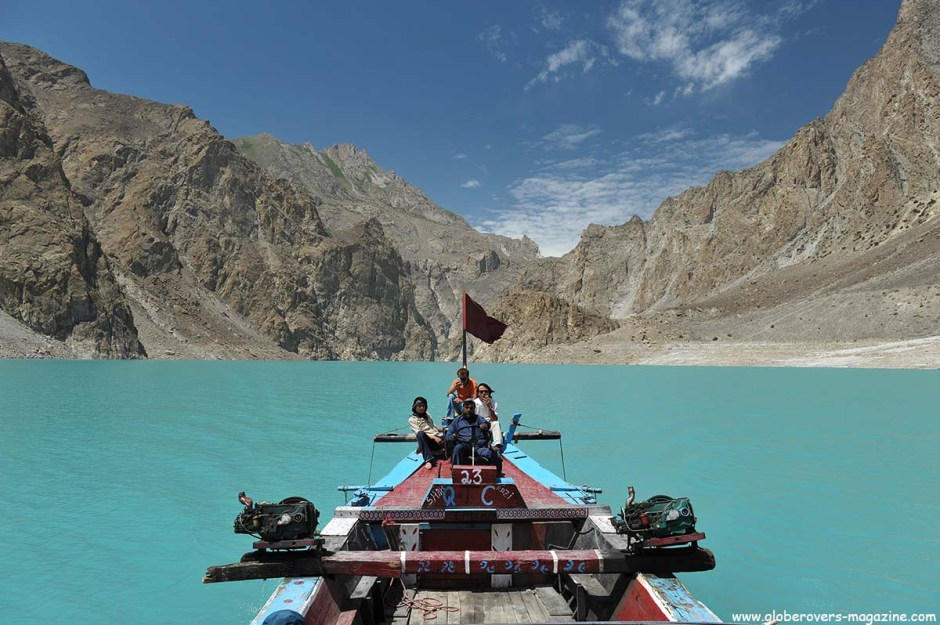 Crossing the Attabad Lake, Hunza Vallay, PAKISTAN