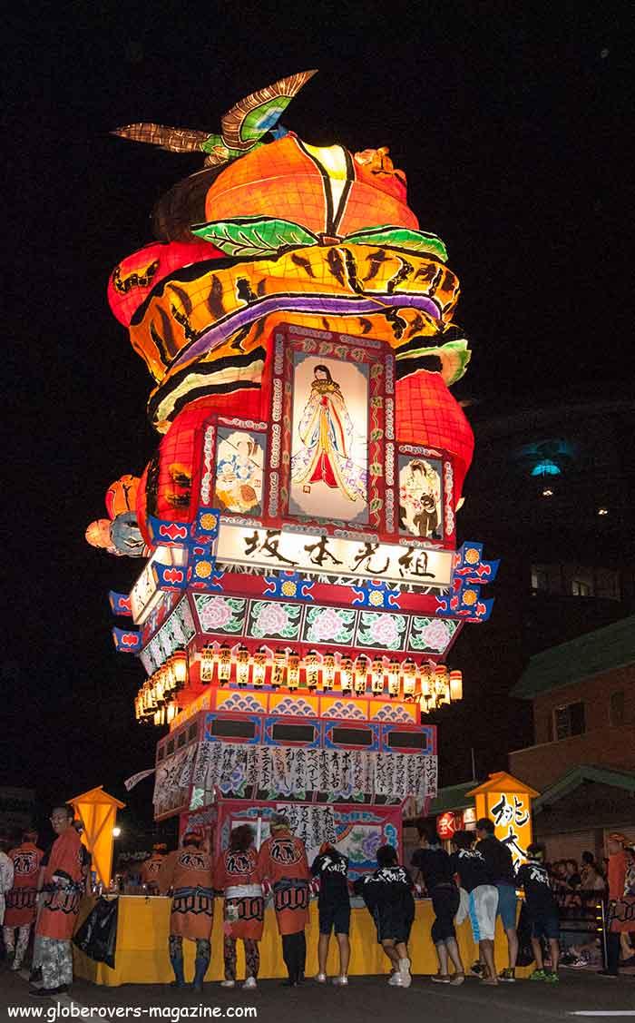 Tachineputa Matsuri festival, Goshogawara, Tohoku Region, Japan