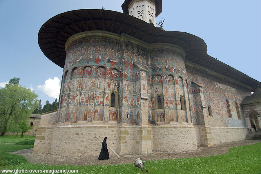 Nun, Sucevita Monastery, Bucovina near Suceava, Romania