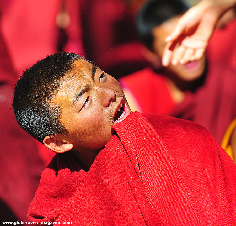 Monks debating at Drepung Monastery, Lhasa, TIBET