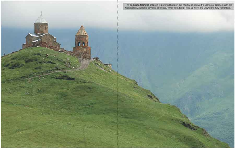 Tsminda Sameba Church near Kazbegi, Georgia