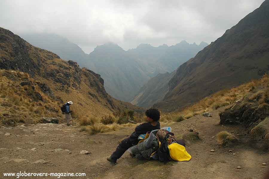 Highest point (dead women's pass 4200m) - Inka Trail hike to Machu Picchu, Peru