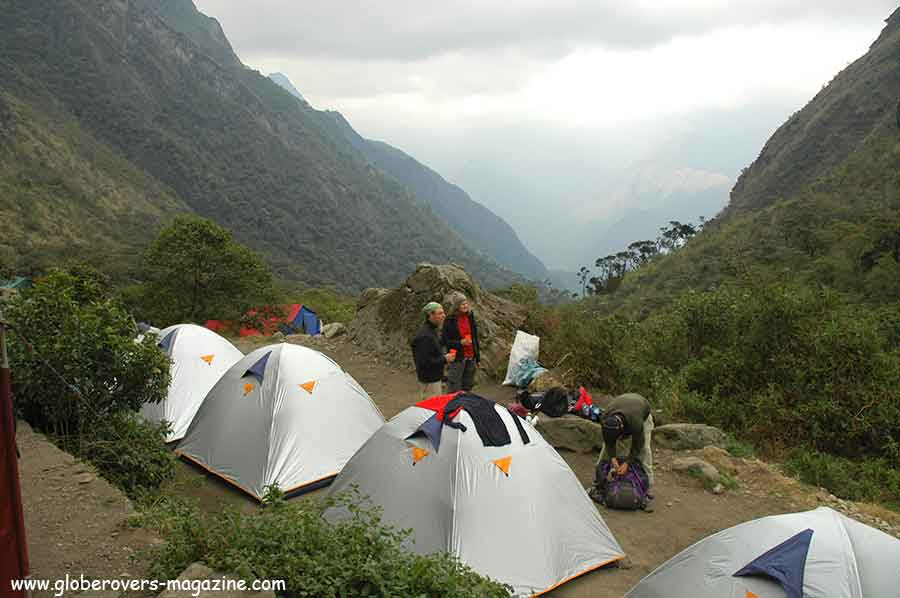 Second night sleep (Paqaymayu 3500m) - Inka Trail hike to Machu Picchu, Peru