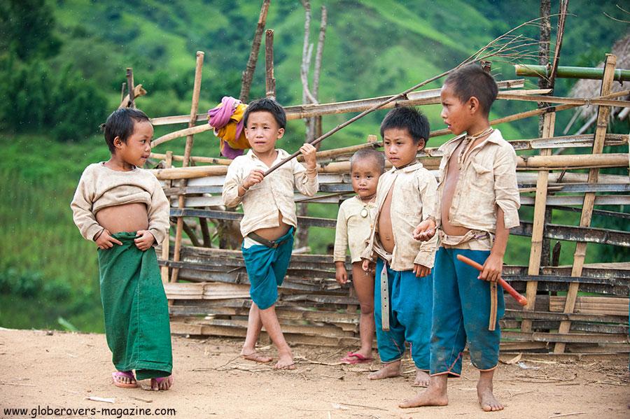 Many kids around the villages