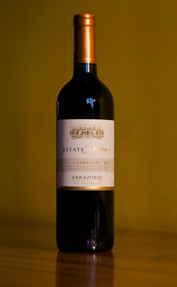 Errázuriz-Carmenère-Weinflasche