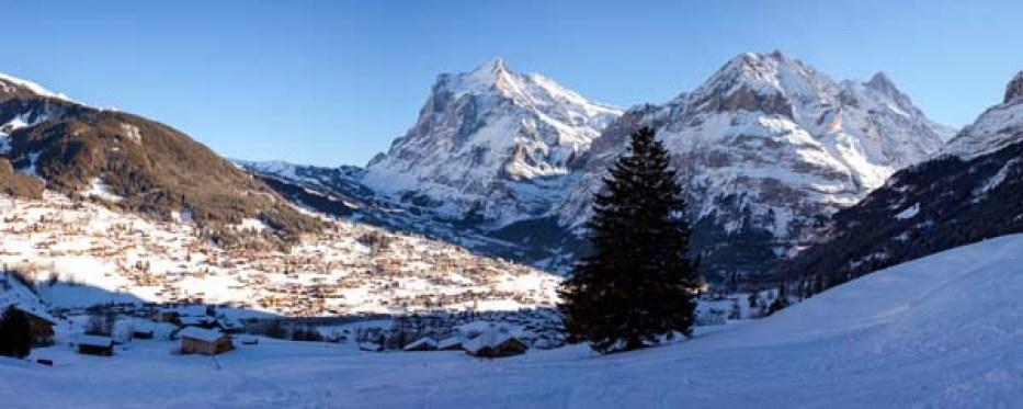 Schweiz Schlitteln Rodeln Grindelwald