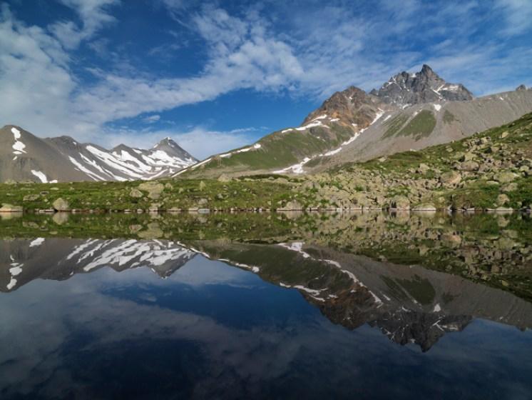 Bergsee Val d'Es-cha Alpen Schweiz