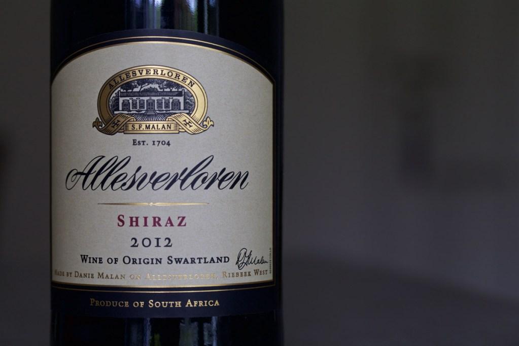 Weintest Shiraz Südafrika
