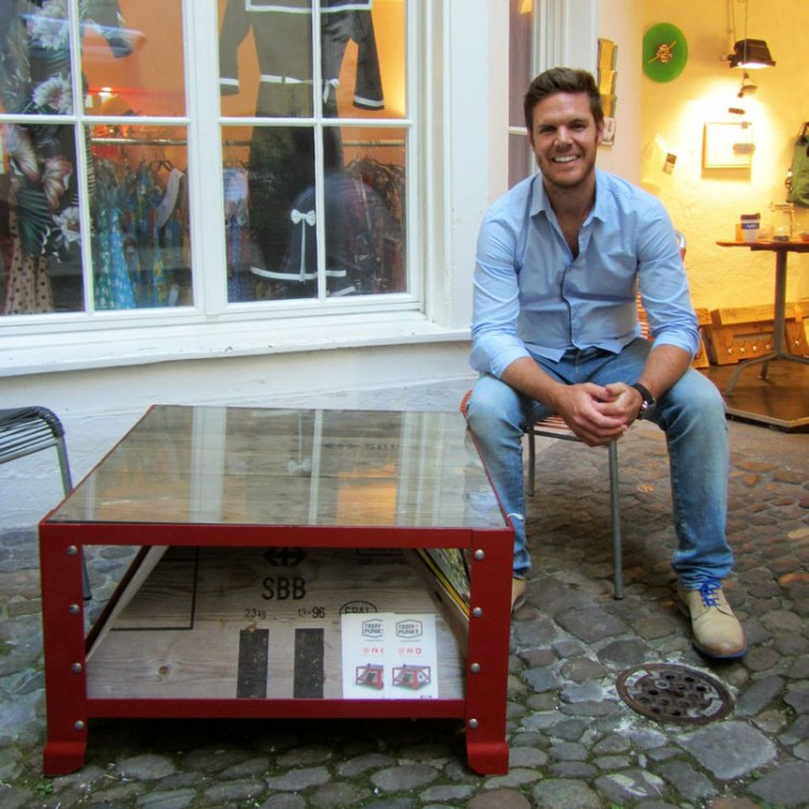 Upcycled Swiss SBB Cargo Boxes
