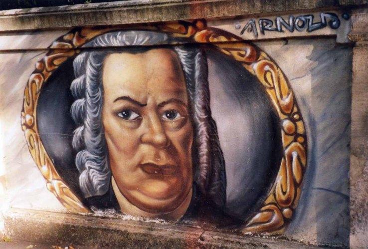 Bach Grafitti an der Kaethe Kollwitz Strasse_