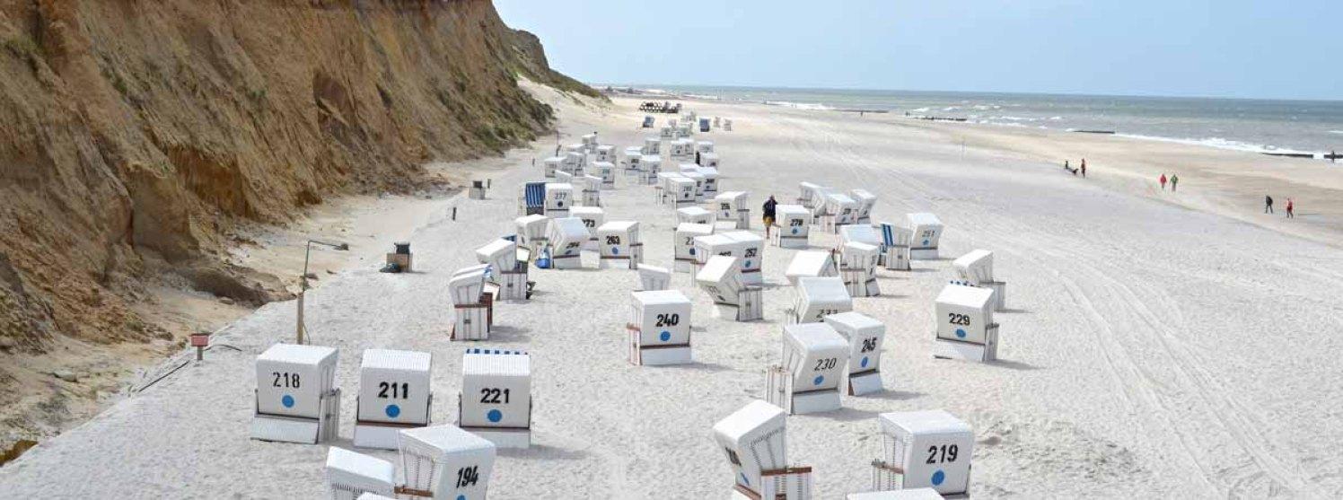 Sylt Aktivitäten Sehenswürdigkeiten - Rote Kliff Strandkörbe