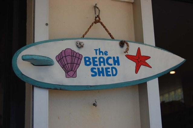 Beach-Shed-Schild