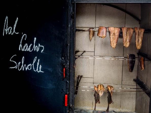 Getrockneter Fisch im Fischerdorf Vitt
