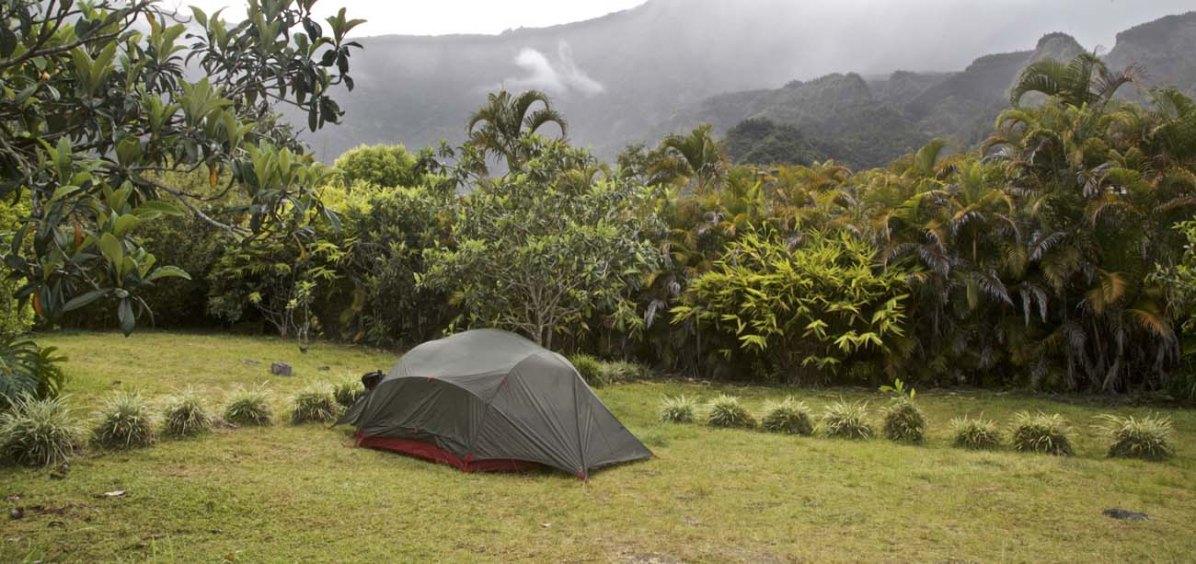Campingplatz bei der Gîte de Belouve