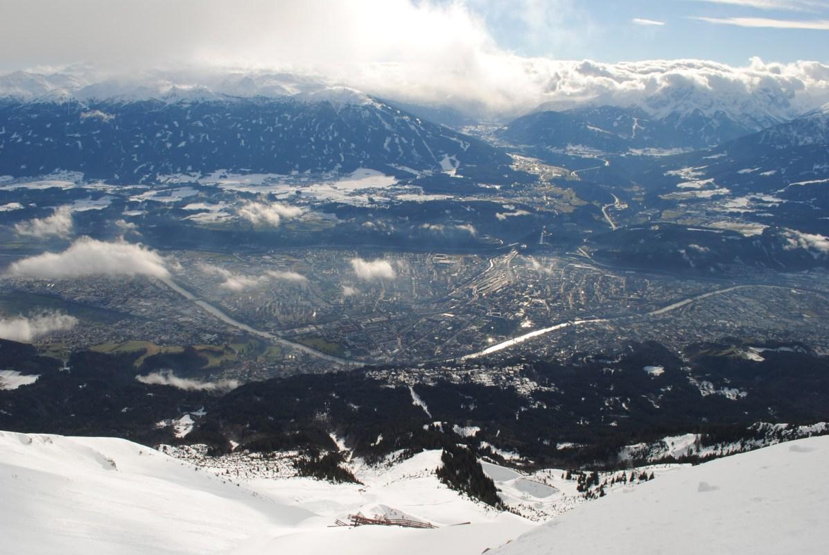 Sicht auf Innsbruck