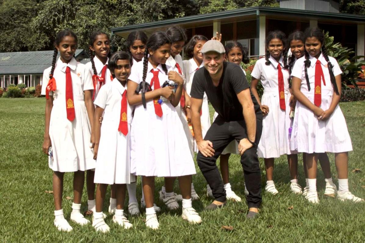 Reisejournalist Martin Hoch unterwegs im Botanischen Garten in Kandy