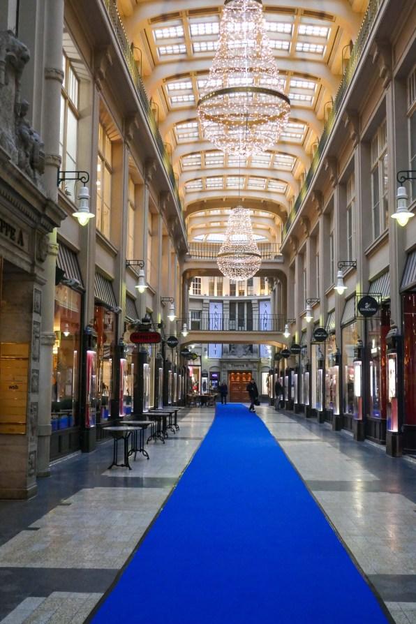 Wunderschöne Shoppingpassagen in Leipzig.