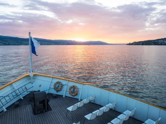 Sonnenuntergang auf dem Zürichsee