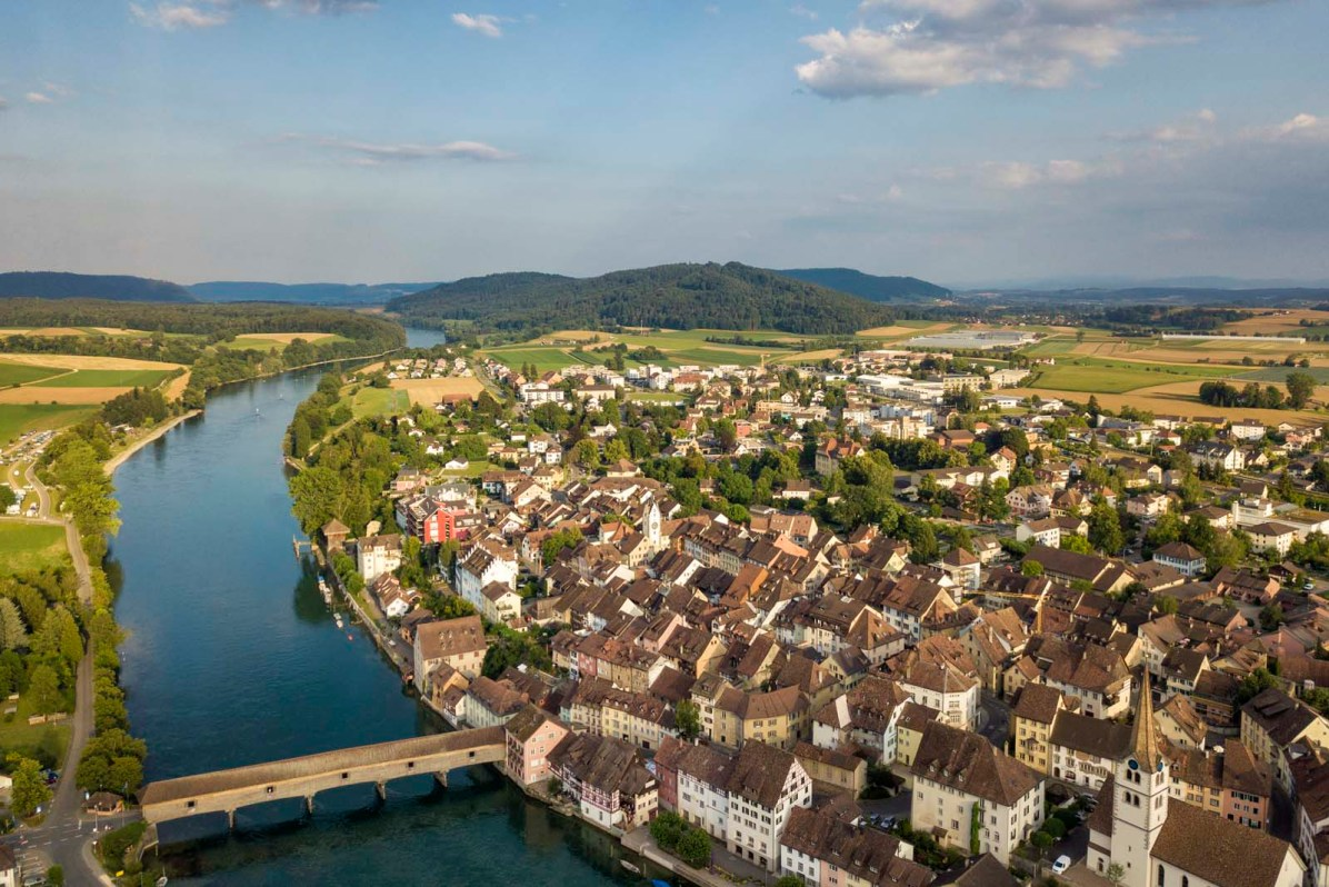 Die Holzbrücke bei Diessenhofen ...