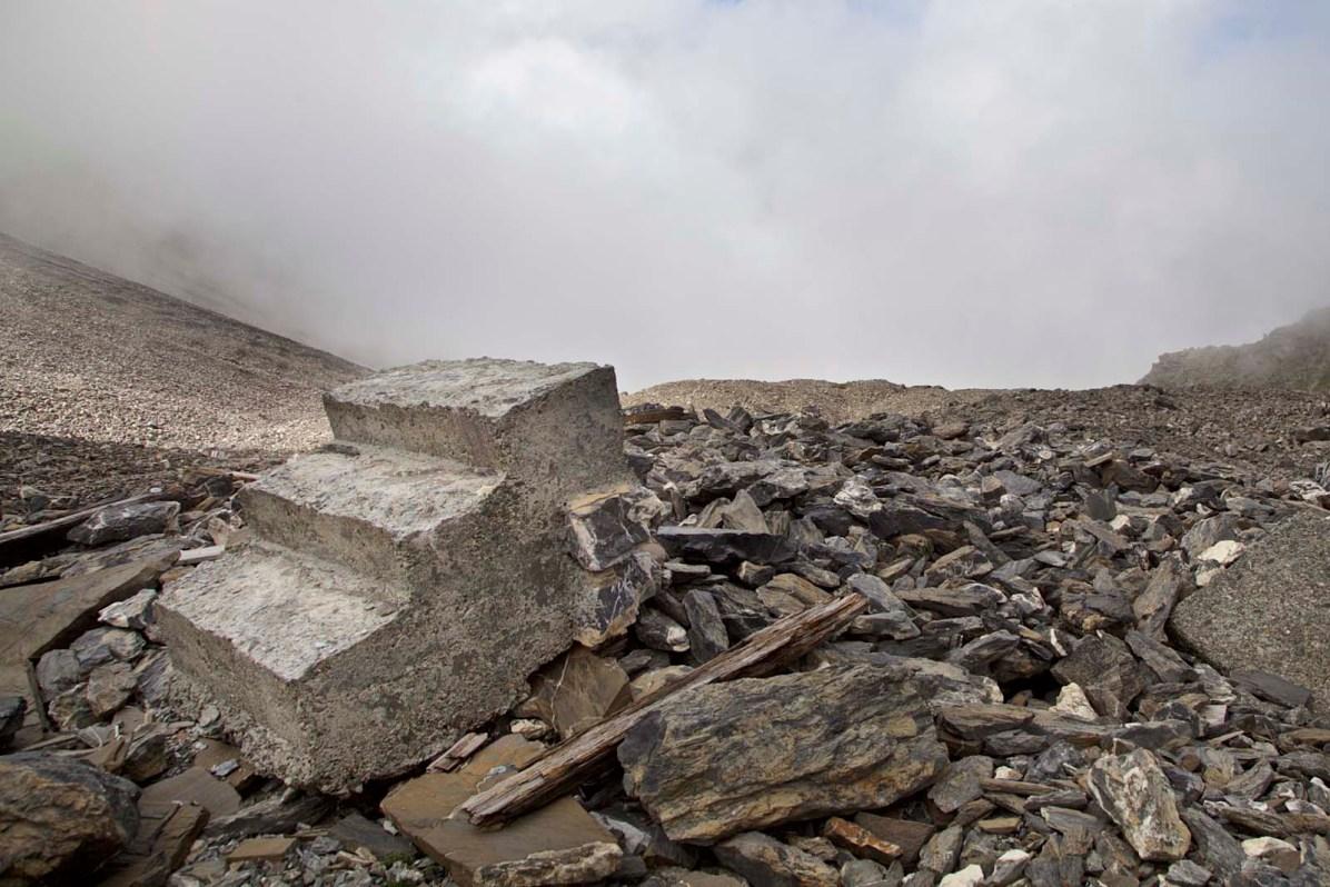 Kesch Trek Fernwanderung von Davos nach Berguen Treppe