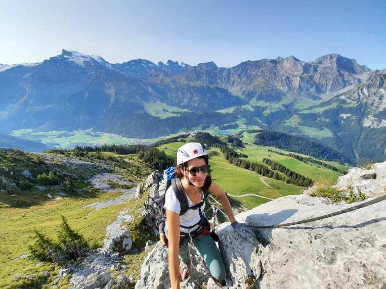 Klettersteig mit wunderschöner Kulisse © Eva Hirschi