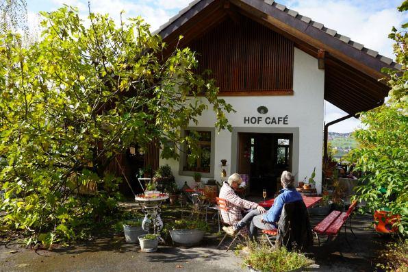Das Hofcafé des Haldihofs. © Eva Hirschi