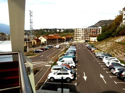 parking de la Cassine, aire de covoiturage derrière la gare de Chambéry