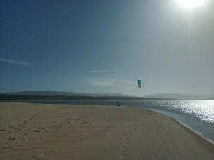 Kitesurfer in Witsand