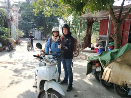 Ready for our motorbike route from Hanoi to Ha Giang
