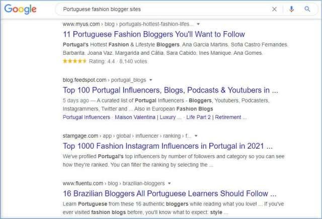 sites de blogueurs de mode portugaise