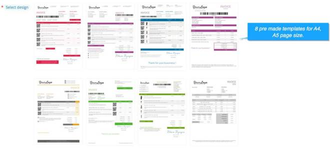 prestashop invoice templates for page size a4 a5